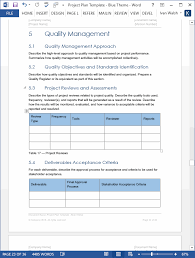 Project Management Template Word Project Plan Templates Ms Word 10 X Excels Spreadsheets