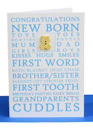 Congratulations Greeting Card Baby Boy Lils Cards