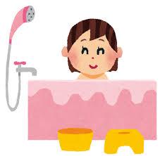 お風呂のイラスト「女性」 | かわいいフリー素材集 いらすとや