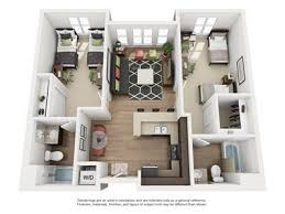 2 Bed 2 Bath Floorplan A4 Student Apartments Near San Jose State