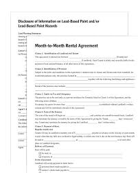 Month To Month Lease Agreement Example MonthtoMonth Rental Agreement Forms And Instructions 7