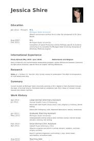 Large Animal Veterinary Assistant Resume samples