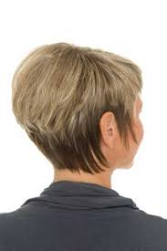 two tone stacked bob fine hair back view
