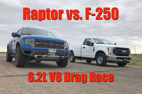 2017 Ford F250 Work Truck vs SVT Raptor: 6.2L vs 6.2L V8 Drag Race ...