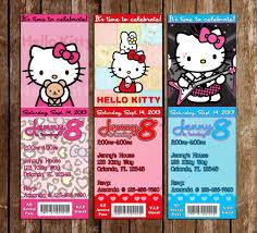 Hello Kitty Invitation Printable Novel Concept Designs Hello Kitty Birthday Party Ticket Invitation