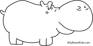 Small Picture Hippo Outline Clipart Coloring Coloring Pages