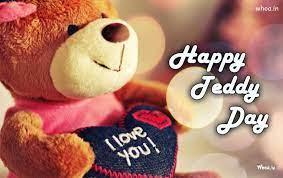 happy teddy day greetings hd wallpaper