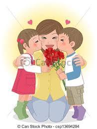 Resultado de imagem para DESENHO DE mãe beijando filho