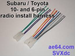 radio wiring adapter (harness) for subaru and toyota Simple Wiring Diagrams at Ta02b Wiring Diagram