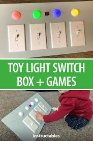 Light Switch Science Project Kids Toy Light Switch Box Games Remix Diy For Kids