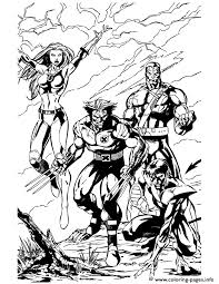 Printable drawings and coloring pages. X Men Wolverine And Team Coloring Pages Printable