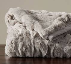 gray faux fur throw. Perfect Throw Faux Fur Ruched Throws Saved Quicklook  Ivory Gray  With Throw