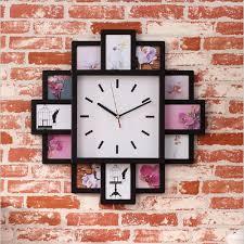 2018 diy wall clock modern design diy photo frame clock plastic art pictures unique home decor from livegold 42 39 dhgate com