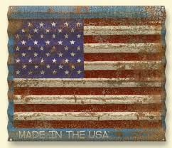 american flag distressed corrugated metal personalized sign