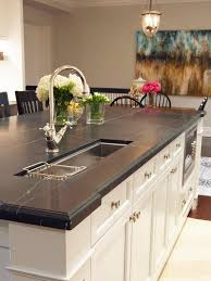 Black Marble Kitchen Countertops Backsplash Ideas For Granite Countertops Hgtv Pictures Hgtv
