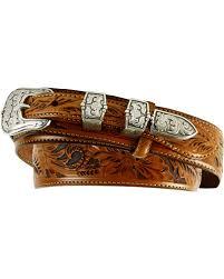 zoomed image tony lama tooled leather ranger belt brown hi res