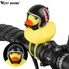 WEST BIKING <b>1 Pcs MTB Road</b> Bike Bell Little Yellow Duck with ...