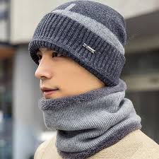 Cycling Windproof Warm Knit Hat Men Winter Outdoor Travel ...