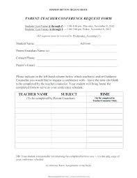 Parent Teacher Conference Form Template Successful Parent Teacher Conferences Conferences Parent