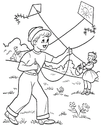 Small Picture kids coloring pages kites free printable kite coloring pages for