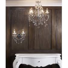spa 19713 chr luxuray bathroom chanedlier matching wall lights stunning interior design