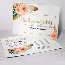 Floral Wedding Postcard Template For Free Download On Pngtree