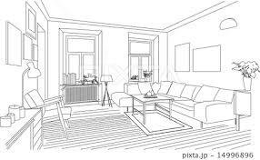 リビングルームのイラスト素材 14996896 Pixta