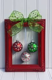 Christmas Picture Frame Wreath by OddsNEndsbyAly on Etsy. Ideas for  Christmas decor.