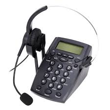 2018 new ht500 headset telephone desk phone headphones headset hands free call center noise cancellation monaural with backlight in telephones from computer