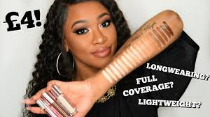 makeup revolution conceal define concealers swatches demo review all shades