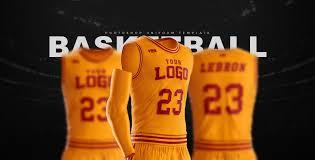 Basketball Jersey Design Template Psd Basketball Uniform Jersey Mockup Freebie Designhooks