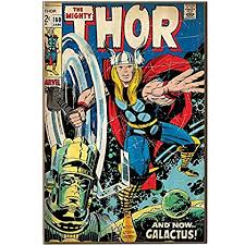 silver buffalo mv2736 marvel the mighty thor and galactus wood wall art plaque 13 by on marvel comics wall art plaque with silver buffalo mv2736 marvel the mighty thor and galactus wood wall