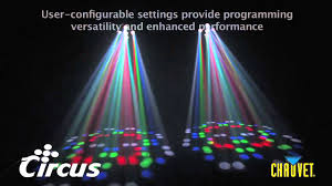 Circus Dj Light Circus Is A Dazzling Multi Colored Led Effect Light From Chauvet Lighting