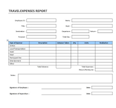 printable monthly expense report template