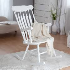 white wooden rocking chair. White Painted Wooden Rocking Chair