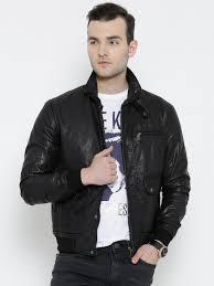 bareskin black leather jacket with detachable faux fur collar