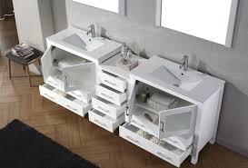 90 Bathroom Vanity Virtu Usa Dior 90 Double Bathroom Vanity Set In White Bathtubs Plus
