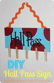 Diy Hall Pass Sign Love This The Students Can Just Clip