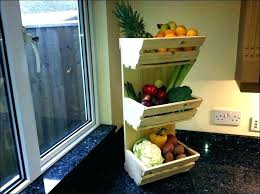 fruit baskets storage kitchen holder for luxury countertop and vegetable home fr