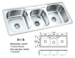 triple bowl kitchen sink undermount s stding stainless steel undermount kitchen sink triple bowl 36