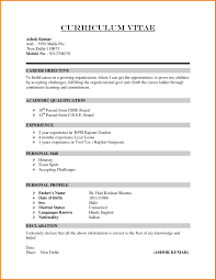 Formal Resume Format Free For Download Formal Resume Junior Network