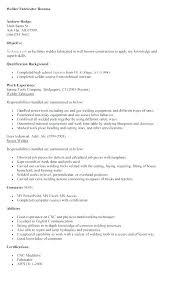 Resume Wording Examples Custom Resume Welders Helper Welder Sample To Welding Resumes Examples