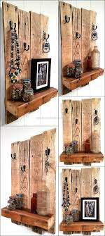 rustic look furniture. Recycled Wooden Pallet Shelf With Rustic Look Furniture .