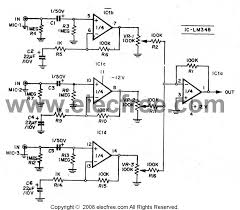 channel amplifier wiring diagram discover your wiring the mixer pre mic 3 channel by lm348 7414