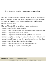 Ideas Of Postal Clerk Resume Sample For Your Template Gallery