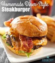 homemade steakburger moose burger recipe sandwich recipes bacon hamburger recipes meatball recipes