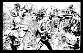 Justice League Unlimited Coloring Pages Coloringsuitecom