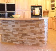 Faux Stone Kitchen Backsplash Kitchen Island Using Airstone For The Home Pinterest Islands
