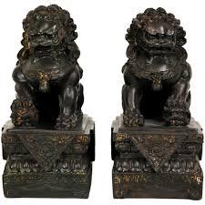 oriental furniture 9 in foo dog decorative statues set of 2 sta