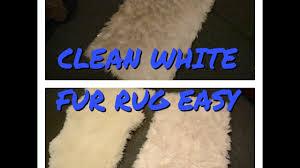 clean white faux fur rug easy